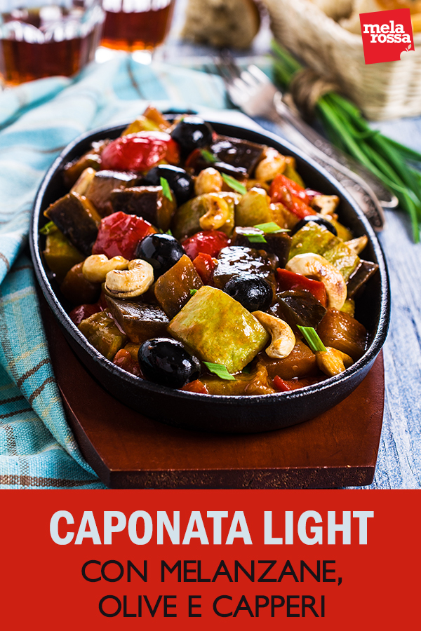 caponata light con melanzane olive capperi