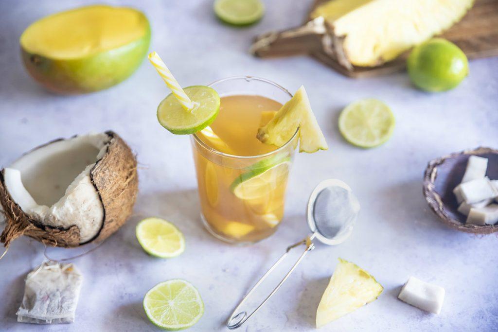 te jasmin con cocco, mango, ananas e lime