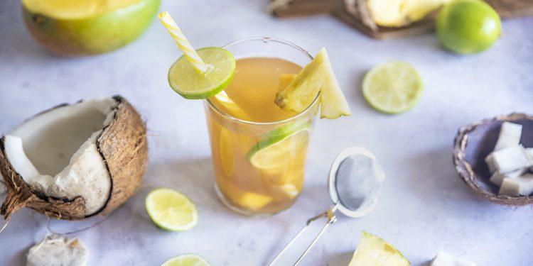Tè jasmin con cocco, mango, ananas e lime