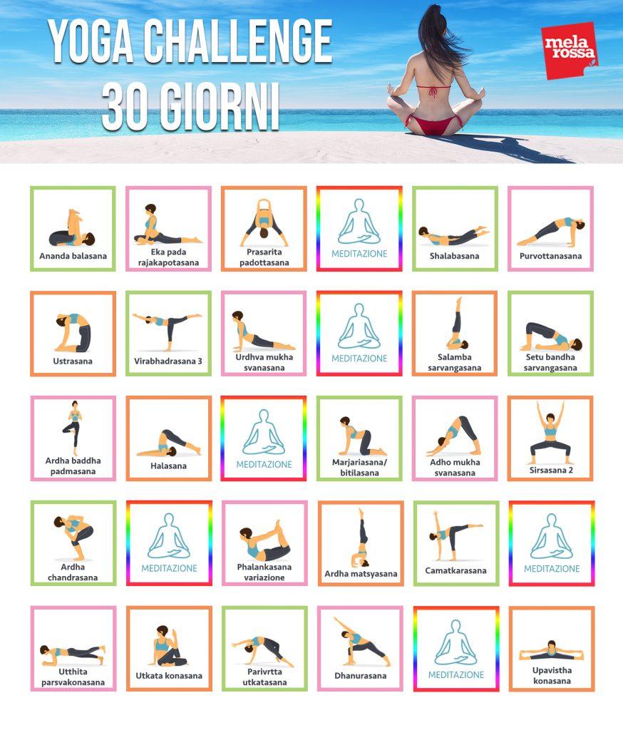 yoga challenge: programma 30 giorni