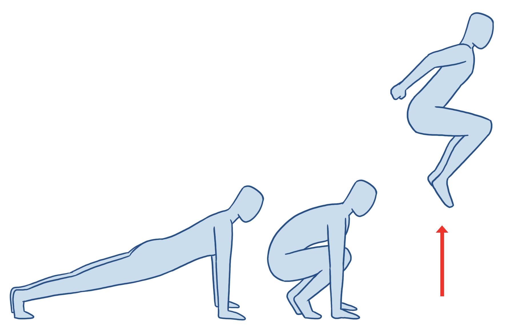 burpees squat jump