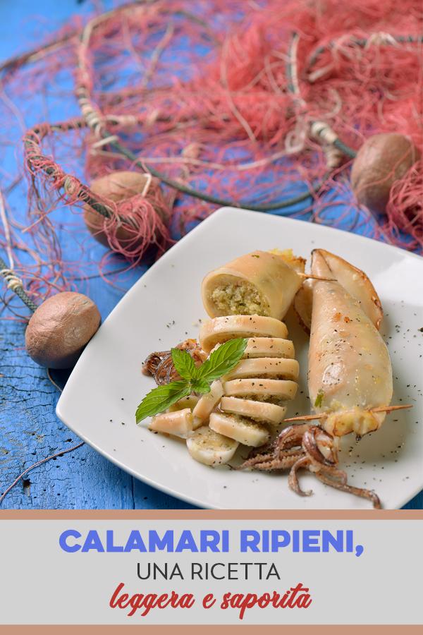 calamari ripieni: ricetta light