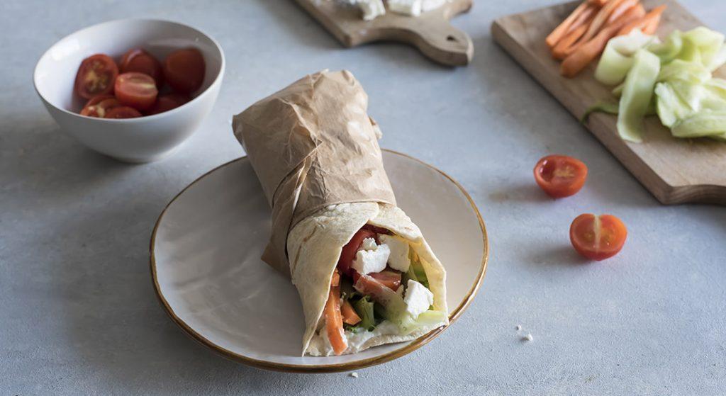 dieta anti-afa: piadina alla greca
