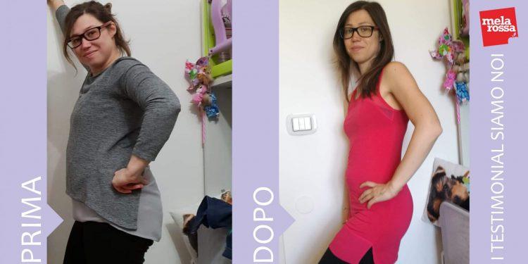 Giada: perde 13 chili con la dieta Melarossa.