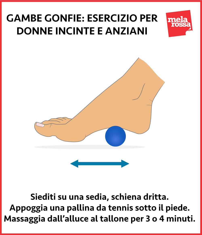 gambe gonfie anziani: esercizio