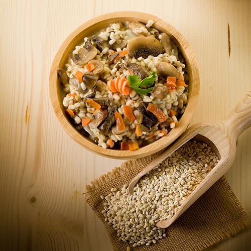 insalata di orzo carote e funghi