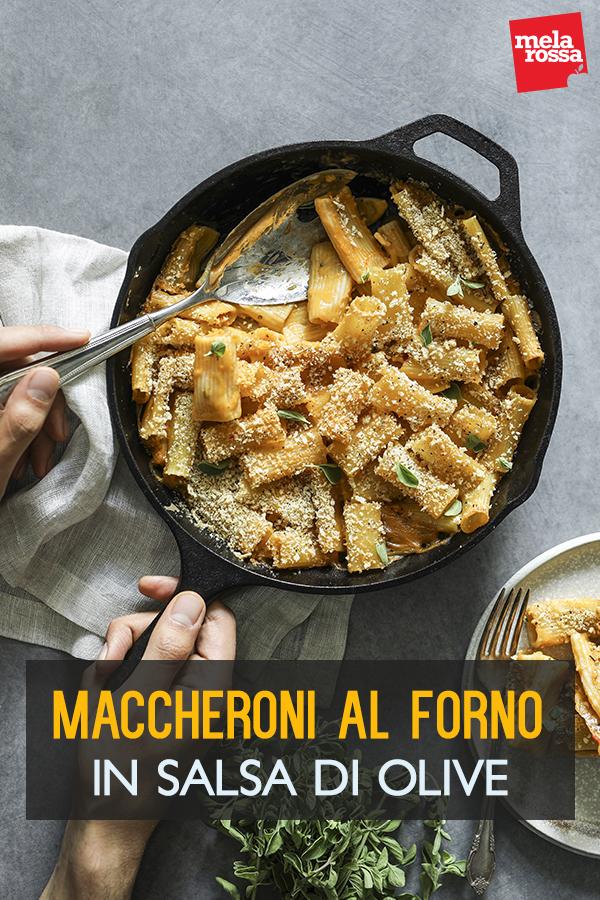 maccheroni al forno salsa olive
