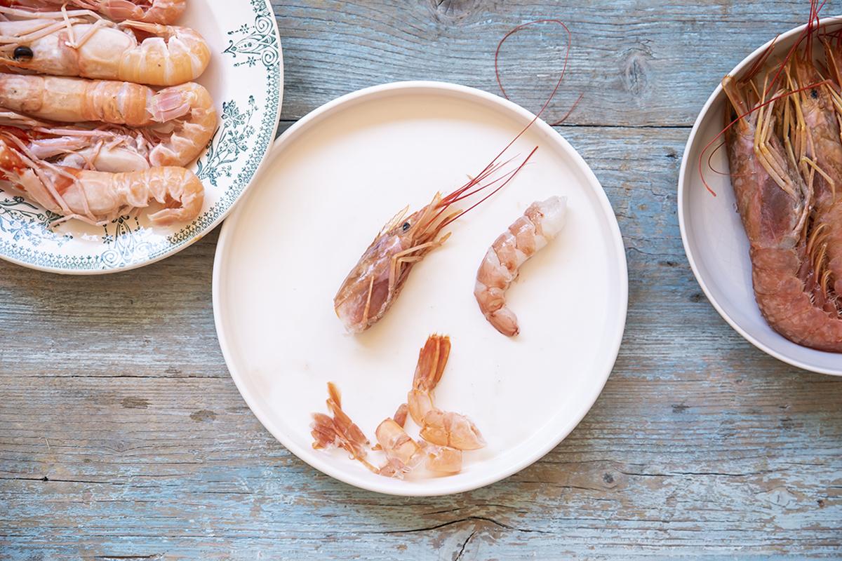 paella leggera gamberoni