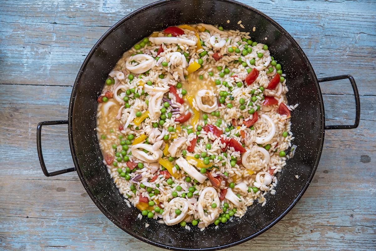 paella leggera pesce
