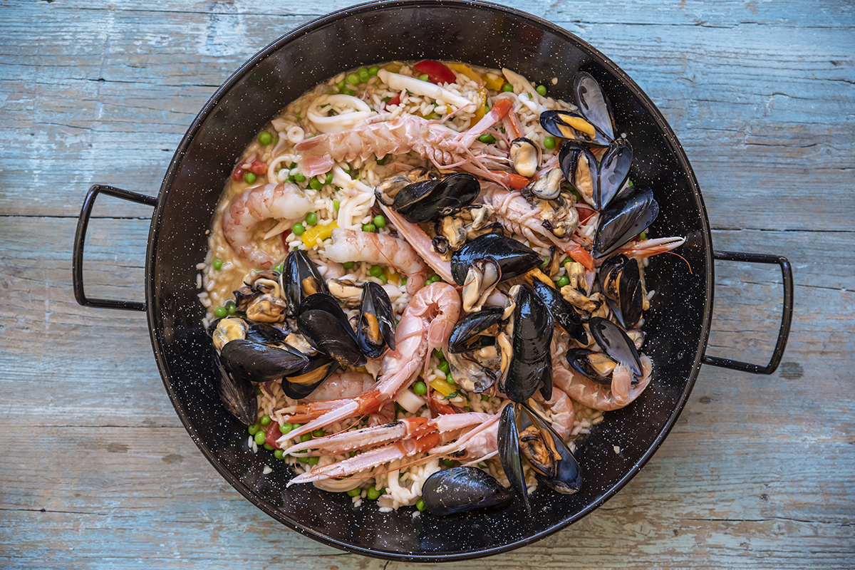 paella leggera riso pesce
