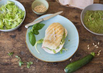 panino con pesto di zucchine