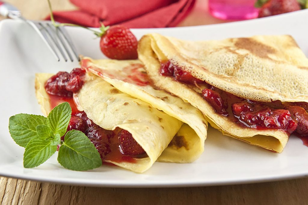 ricette con kamut crepes alle fragole