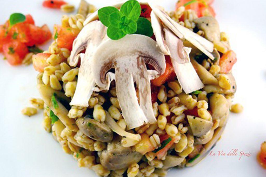 ricette con kamut insalata tiepida di kamut con champignon