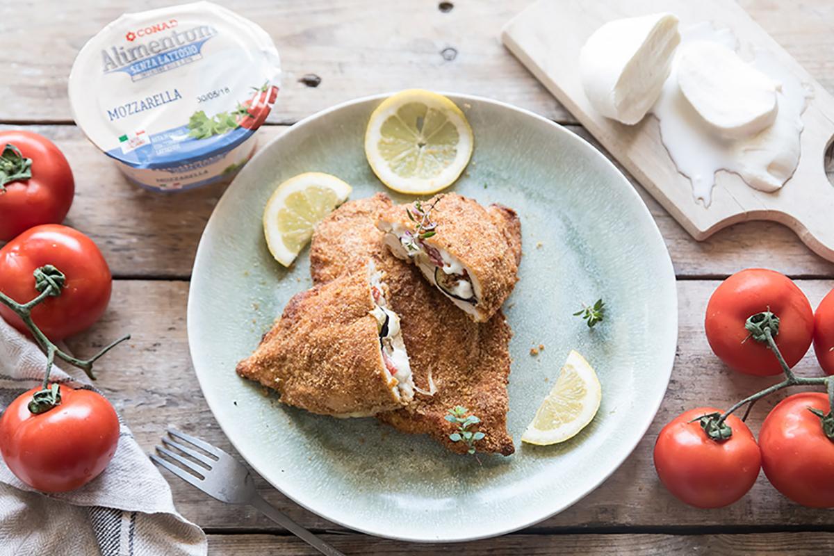 ricette con melanzane cordon bleu di pollo con melanzane, pomodori e mozzarella