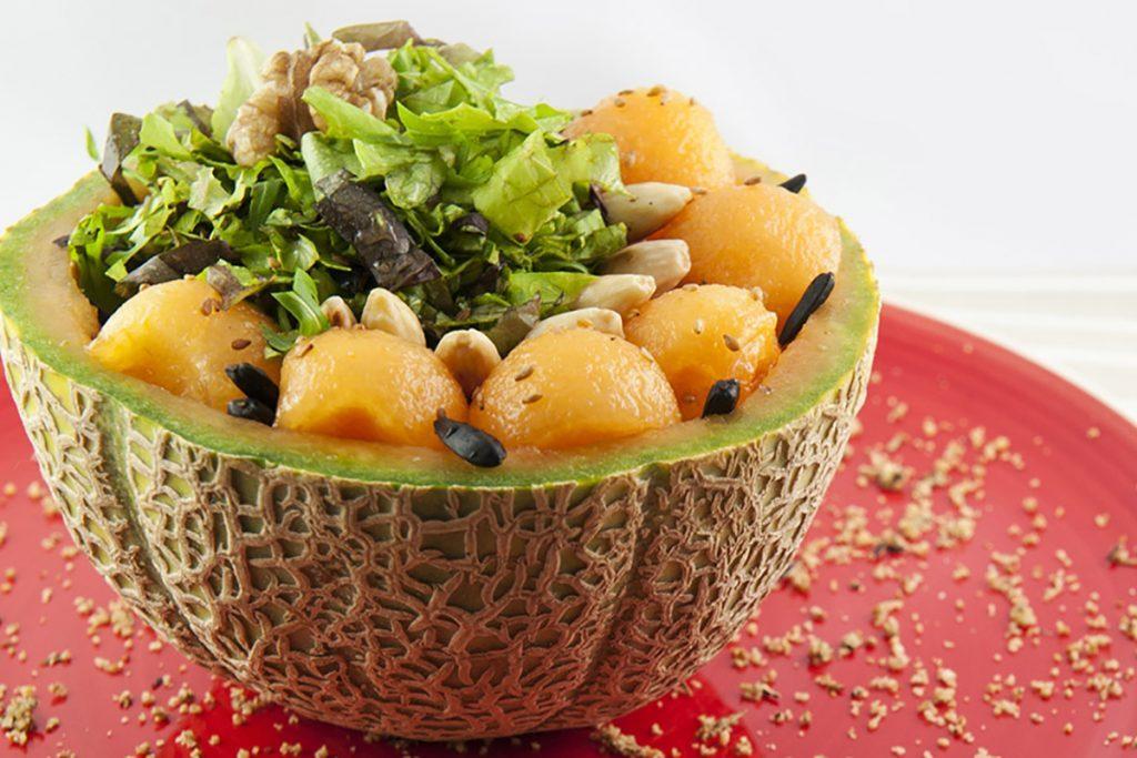 ricette con melone insalata melone semi tostati