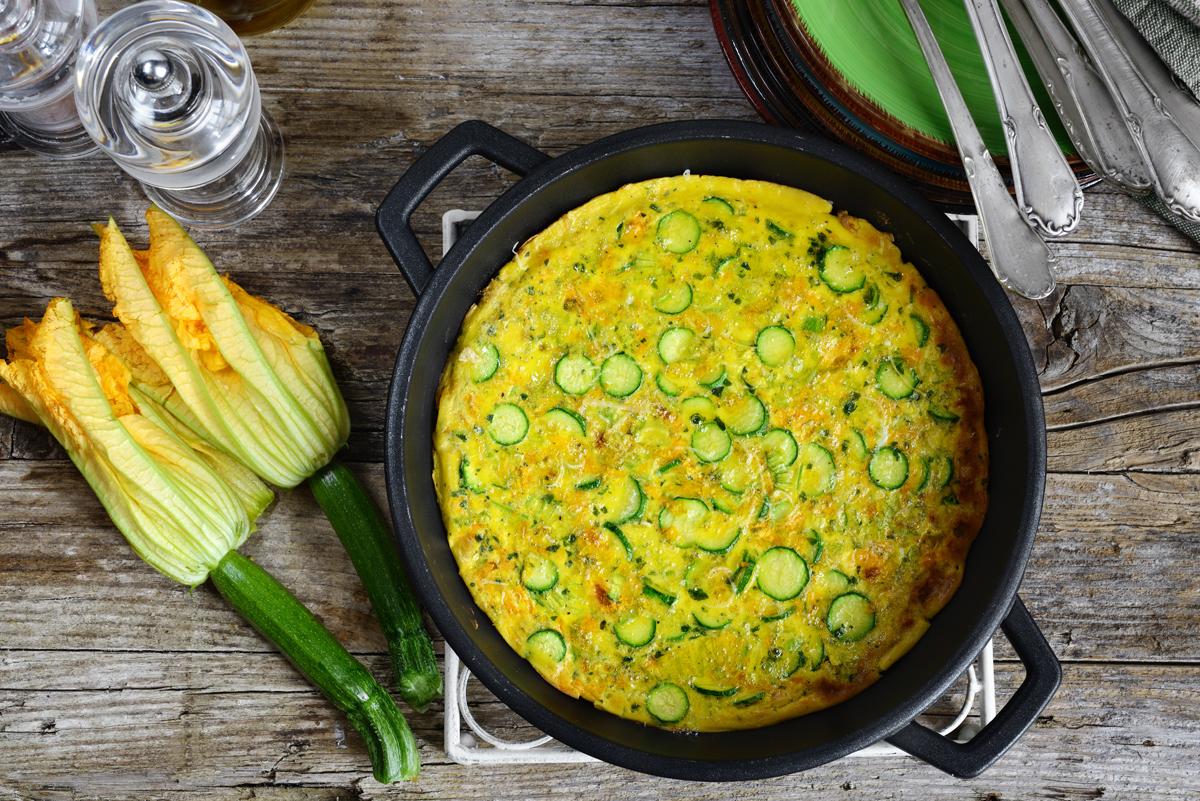 Ricette con uova: frittata zucchine
