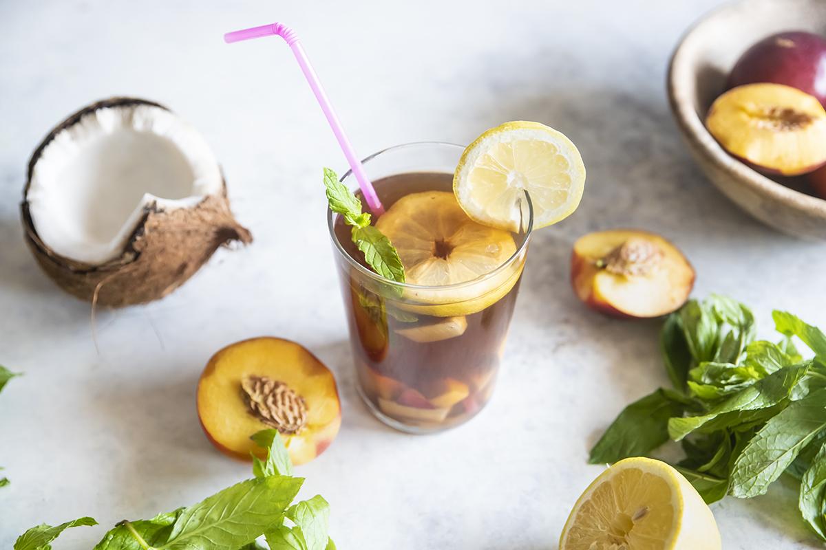 tè bianco pesche cocco limone menta