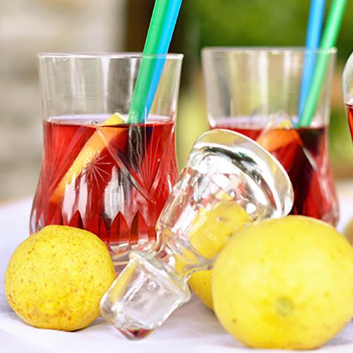 te freddo bianco ciliegie e limone