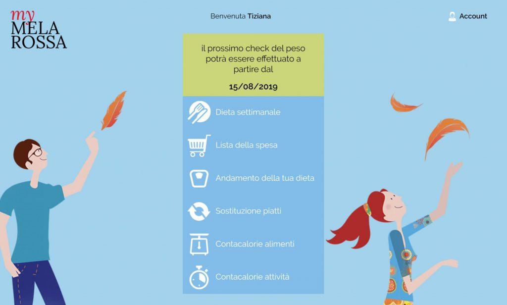 dieta melarossa: area personale myMelarossa