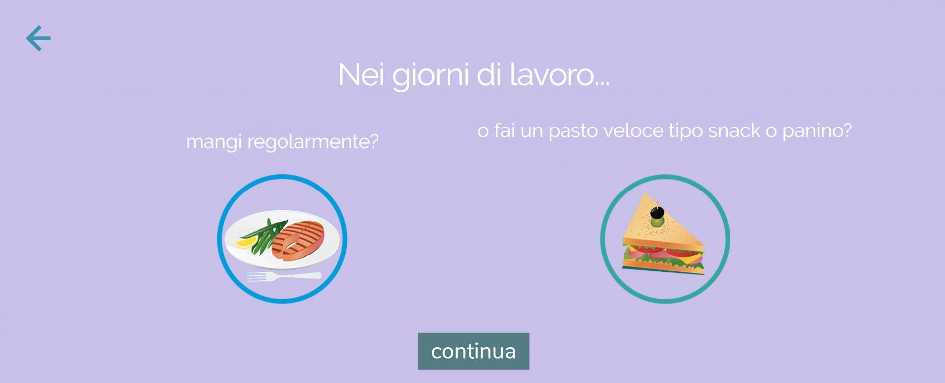 dieta melarossa iscrizione: scelta dieta panino