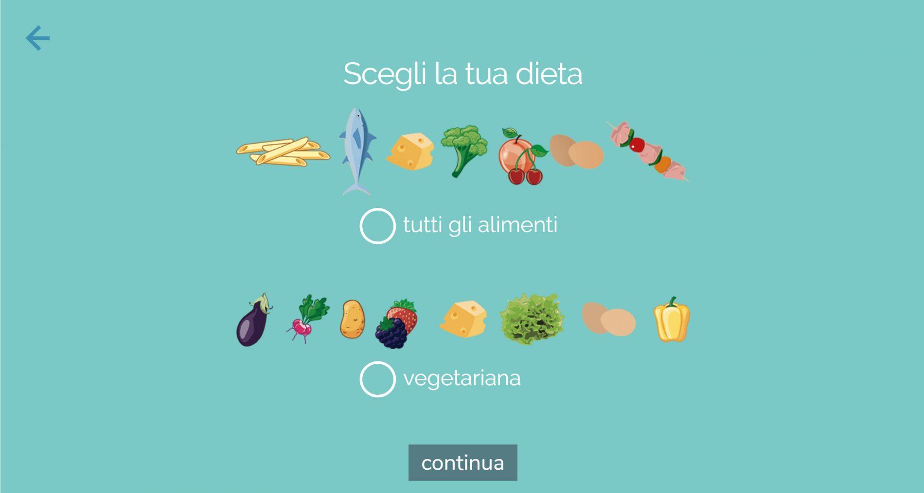 dieta melarossa guida iscrizione: scelta dieta onnivora o vegetariana