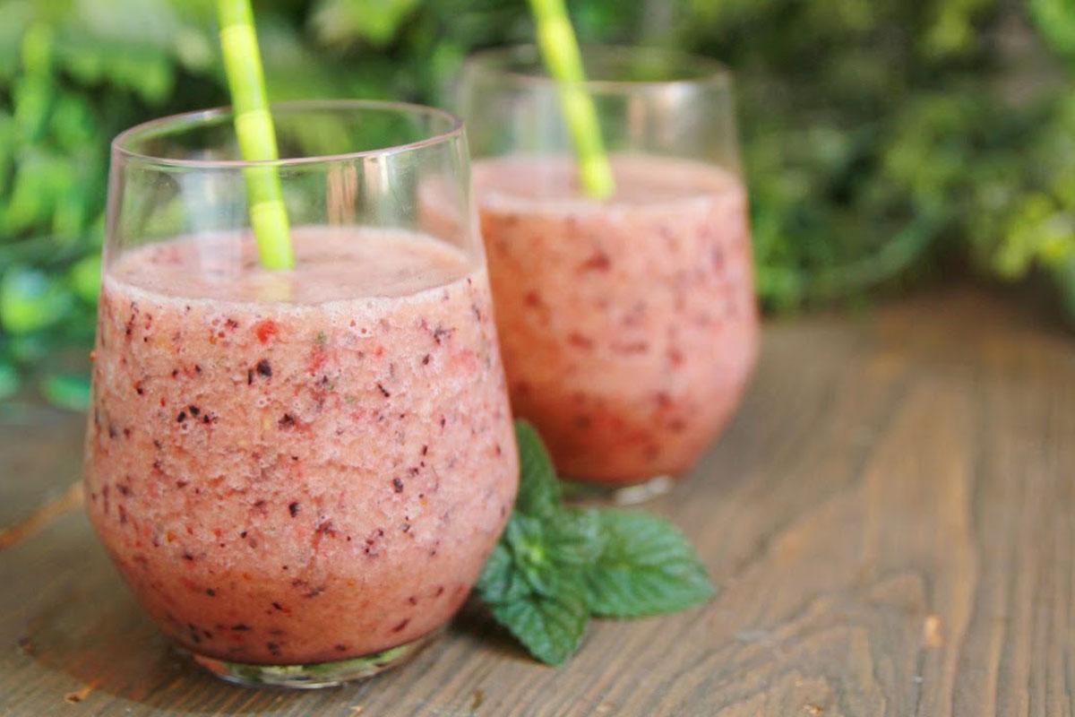 smoothie di fragole e anguria