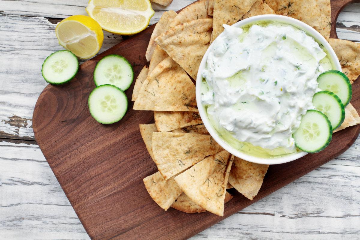 yogurt, la tzatziki greca