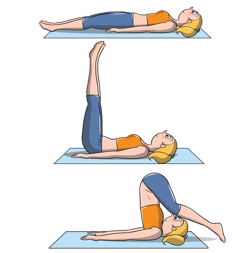 posizioni yoga aratro