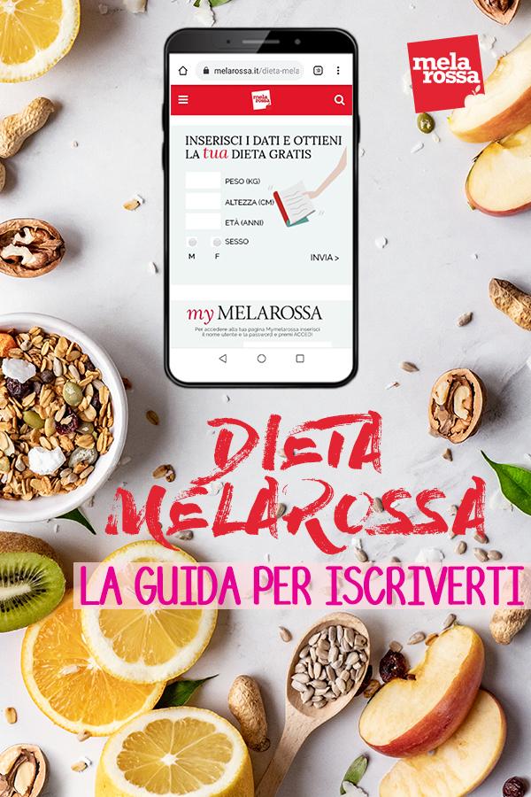 guida iscrizione Melarossa: la tua dieta personalizzata