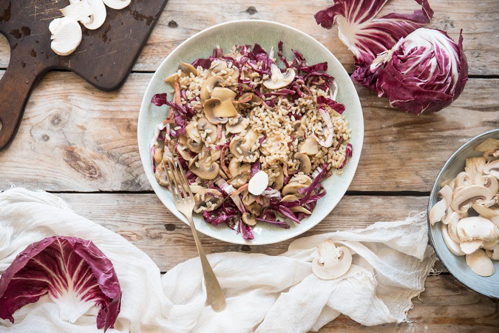 ricette con riso: insalata di riso autunnale