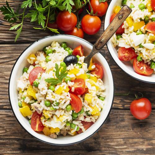 insalata di riso con verdure ricetta