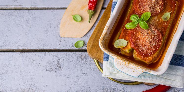 lasagne di tofu con parmigiana estiva