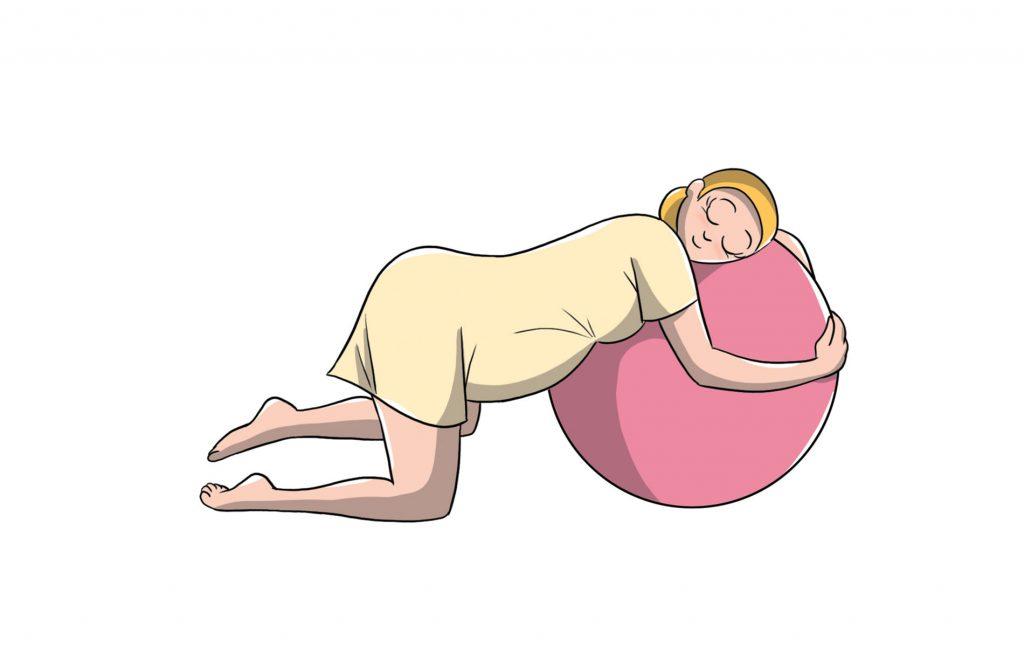 parto naturale:  posizione carponi