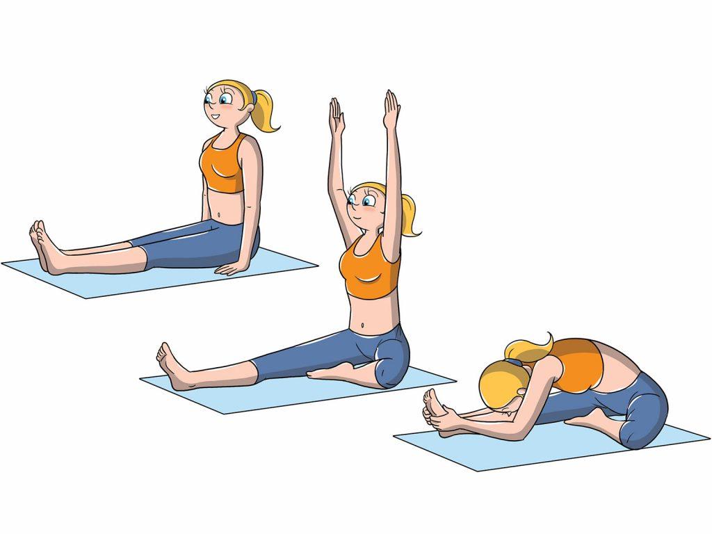 posizioni yoga livello avanzato: testa verso ginocchio