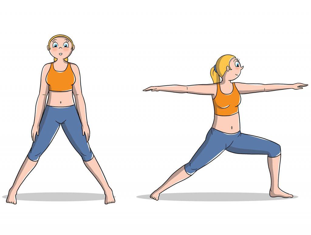 posizioni yoga intermedio guerriero