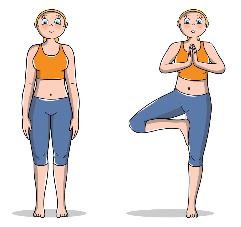 posioni yoga per principianti: albero