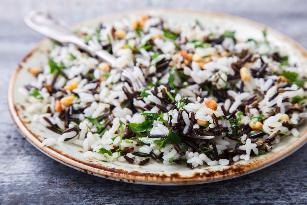 ricette con riso: insalata night & day