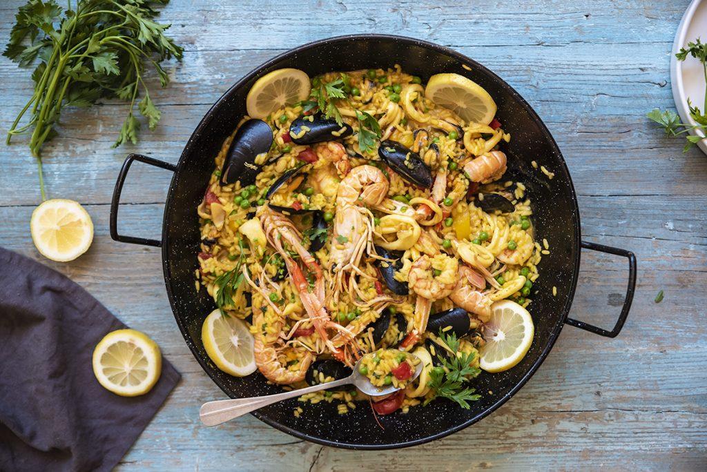 ricette con riso paella di pesce