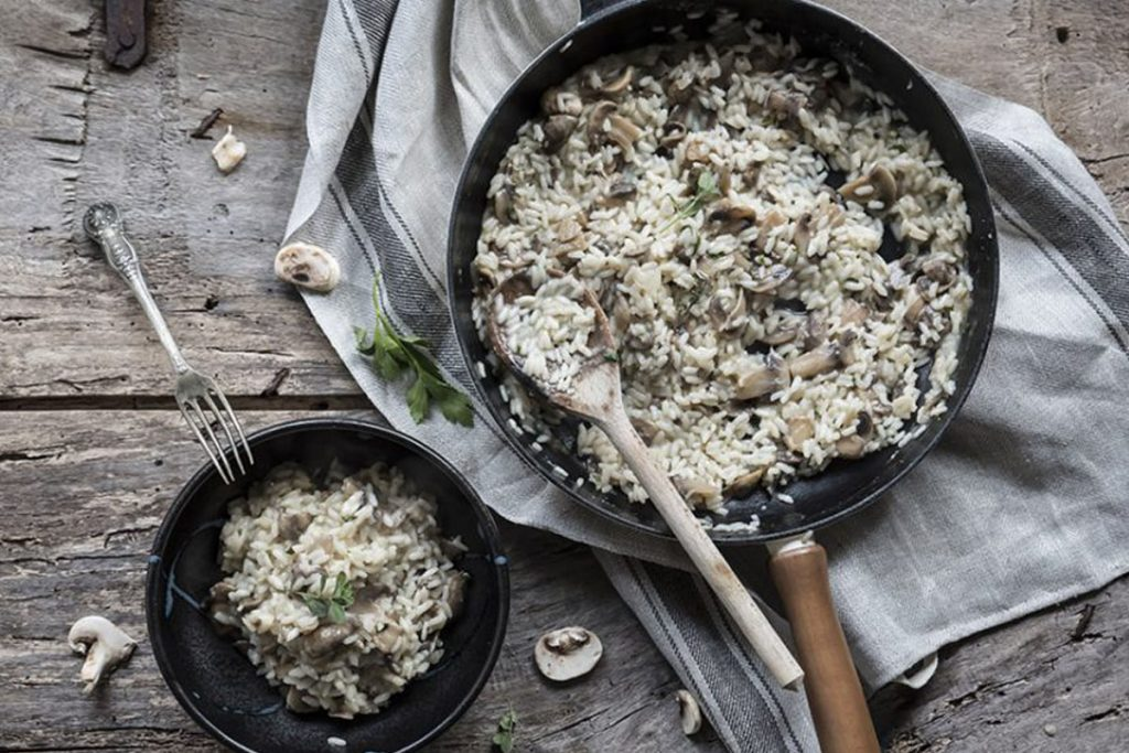 ricette con riso: risotto ai funghi