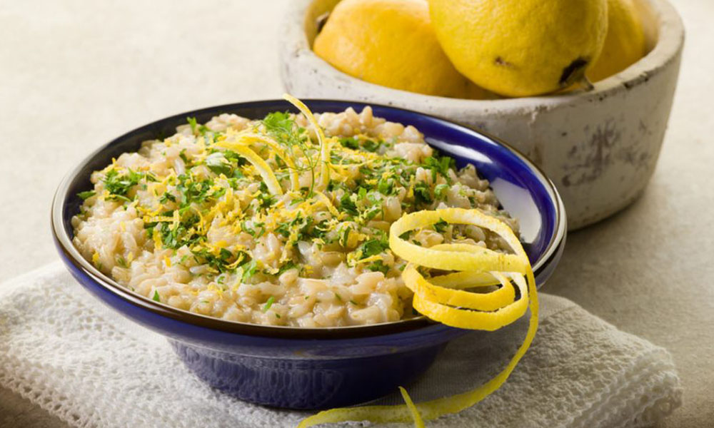 ricette con riso: risotto al limone