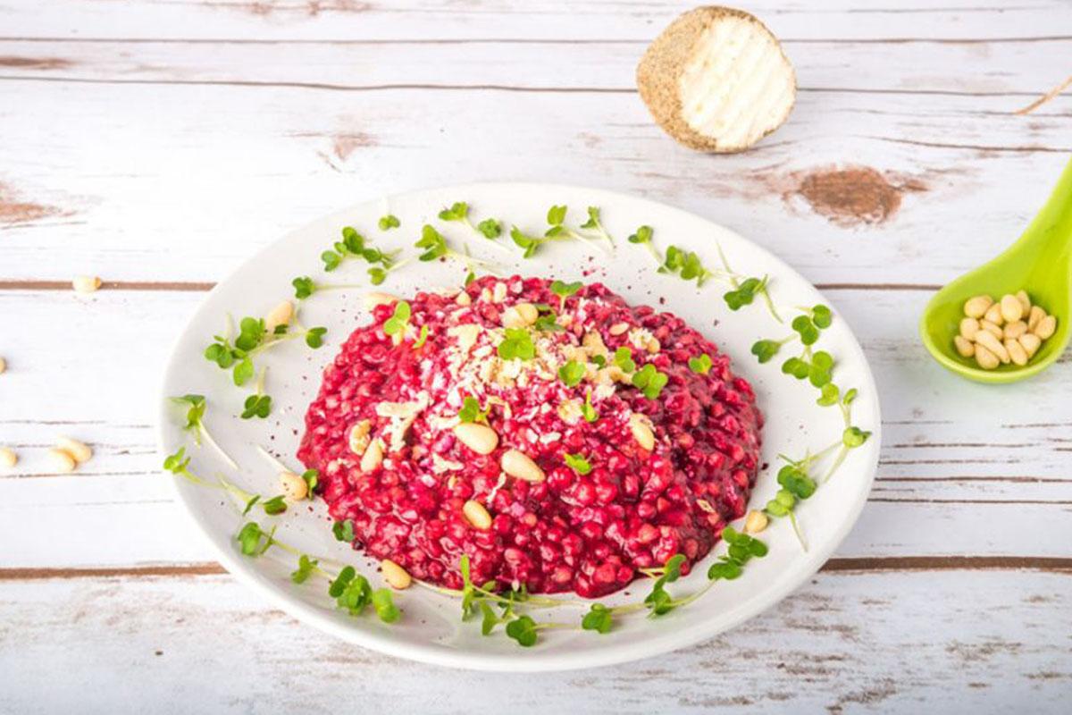 ricette con riso: risotto alla barbabietola rossa