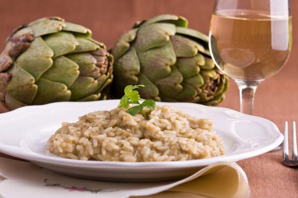 ricette con riso: risotto con carciofi