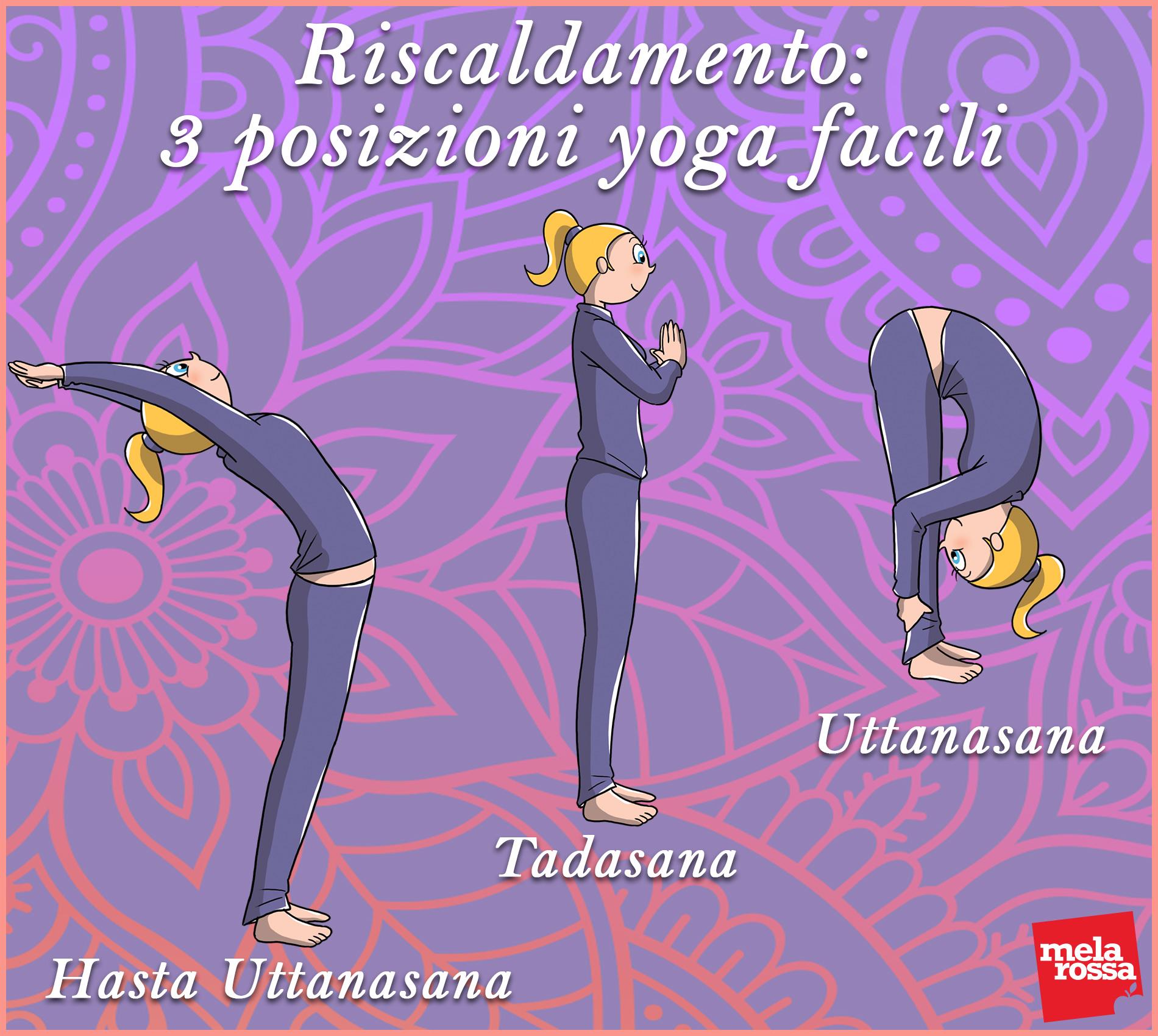 allenamento yoga a casa: riscaldamento