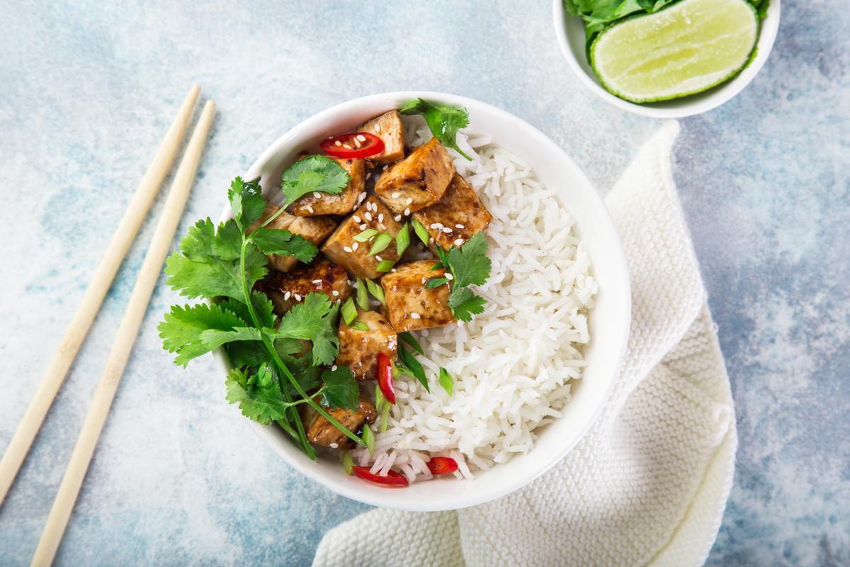 riso al tofu e peperoncino