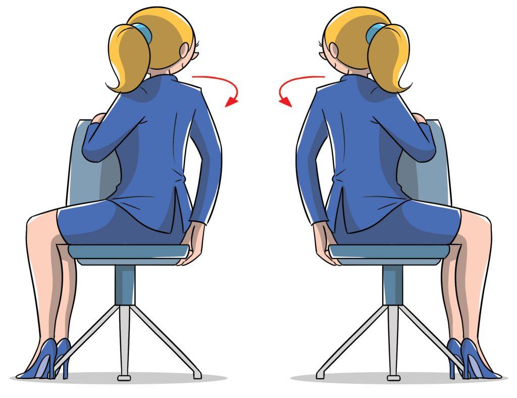 ginnastica in ufficio per allungare la schiena