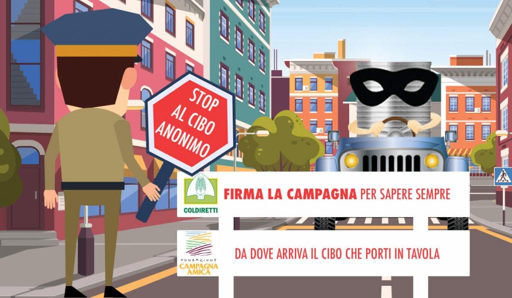 stop cibo anonimo petizione coldiretti
