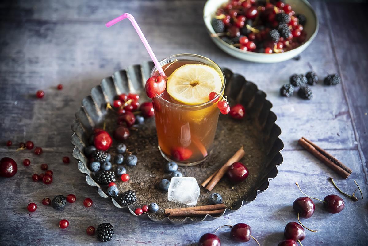 Tè nero ai frutti rossi e cannella