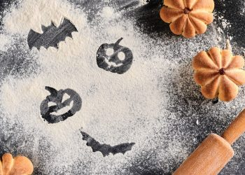 biscotti per Halloween con la farina di castagne