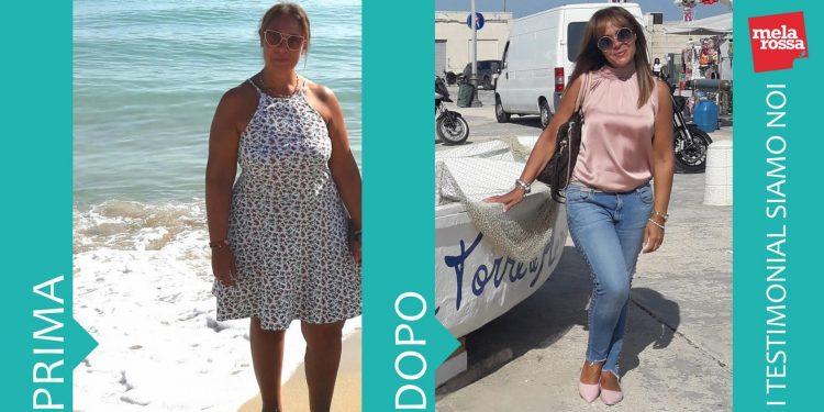 Antonella perde ben 26 kg con la dieta Melarossa