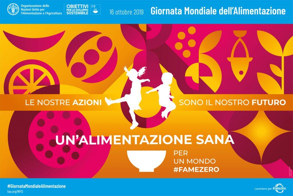 Giornata mondiale alimentazione poster FAO